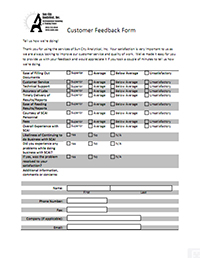 Sun City Analytical Feedback Form